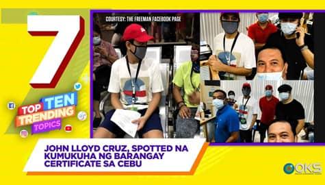 4Ts: John Lloyd Cruz, spotted na kumukuha ng barangay certificate sa Cebu Image Thumbnail