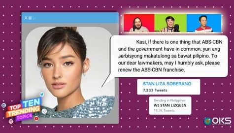 """4Ts: """"Stan Liza Soberano"""", trending dahil sa apela ng aktres na mabigyan ng franchise ang ABS-CBN Thumbnail"""