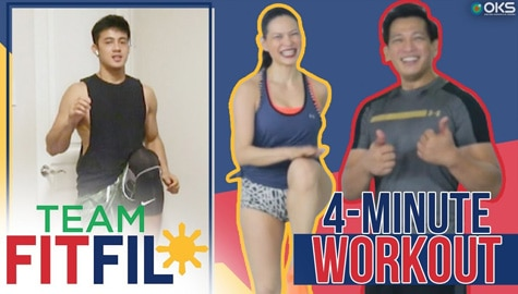 4-Minute Strength and Cardio Total Body Workout with Argel Saycon | Team FitFil Episode 27 Thumbnail