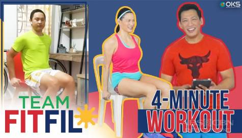 4-Minute Chair Workout with FitFil Teammate Yvan | Team FitFil Episode 33 Image Thumbnail