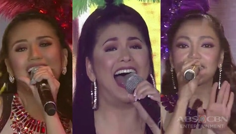 Regine, Morissette, Jona will take you to the 'Moulin Rouge' in their sizzling 'Lady Marmalade' performance! Image Thumbnail