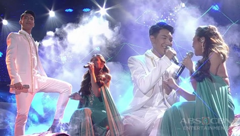 "FIRST ON TV: Morissette and Darren sing their rendition of Aladdin's ""A Whole New World"" on ASAP Natin 'To! Image Thumbnail"