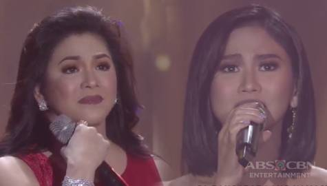 MUST-WATCH: Regine turns emotional during her duet with Sarah G! Image Thumbnail