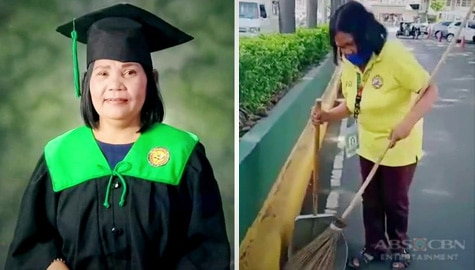 Inspiring story of 'lola streetsweeper' who finished college at 55 Image Thumbnail