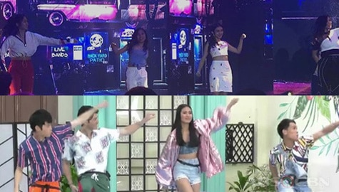 PBB Otso Teen Big 4 and Adult Big 4's dance face off