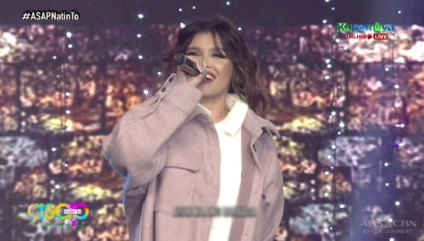 KZ Tandingan's first ASAP Natin 'To performance after her wedding Image Thumbnail