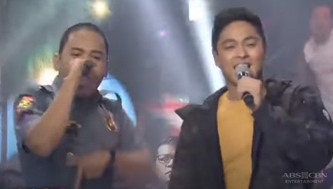 ASAP Natin 'To: Rapper policeman performs with Coco Martin Image Thumbnail