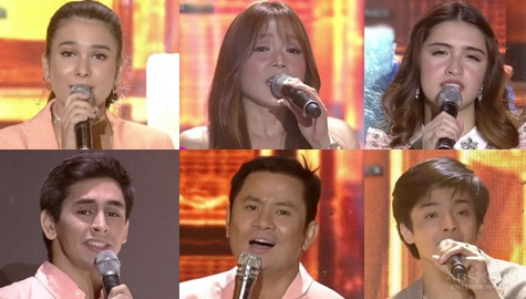 Ogie and Nina together with ASAP Natin 'To's new breed of singers in a Ben & Ben medley performance