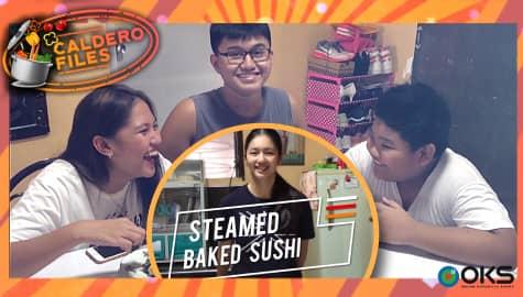 Caldero Files: Kaori, ipinatikim na ang kanyang Steamed Sushi Bake sa kanyang mga kapatid Thumbnail