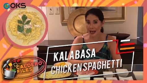 Caldero Files: Carmi Martin's Kalabasa Chicken Spaghetti recipe Thumbnail
