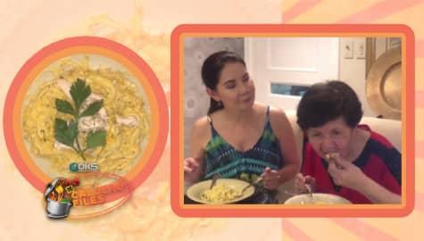 Caldero Files: Masarapan kaya ang mommy ni Carmi Martin sa kanyang Kalabasa Chicken Spaghetti? Thumbnail