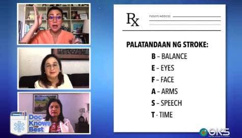 Doc Knows Best: Alamin ang mga senyales kapag nakakaranas ng stroke Image Thumbnail