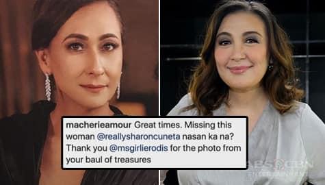 Sharon Cuneta, nagpasalamat sa tulong ni Cherie Gil sa kanyang career Image Thumbnail