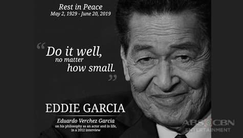 TV Patrol: Beteranong aktor na si Eddie Garcia, pumanaw na sa edad na 90 Image Thumbnail