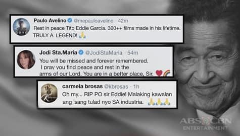 TV Patrol: Eddie Garcia, binigyang-pugay ng mga nakatrabaho niyang batikang artista Image Thumbnail