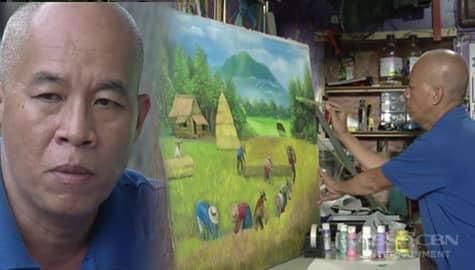 Rated K: Ang nakaka-inspire na kwento ng isang lalaki na nagpinta para sa dialysis ng kanyang asawa Image Thumbnail
