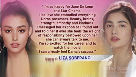 TV Patrol: Liza Soberano, nagpaabot na ng pagbati kay Jane De Leon Image Thumbnail