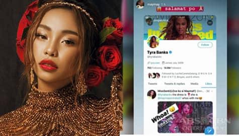 Maymay Entrata, nagpasalamat sa pag-like ni Tyra Banks sa kanyang mga larawan Image Thumbnail