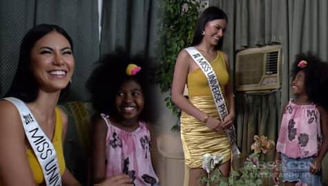 Rated K: Miss Universe Philippines 2019 Gazini Ganados, sinorpresa ang batang viral na si Jai-jai Image Thumbnail