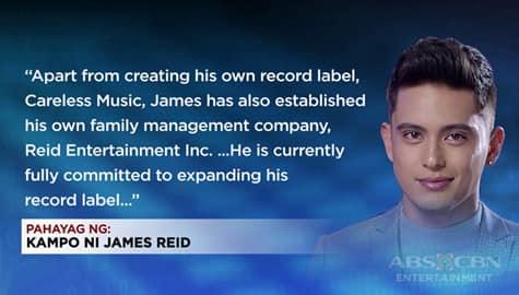 TV Patrol: James Reid, nagtatag ng family management company bukod pa sa sarili niyang record label Image Thumbnail