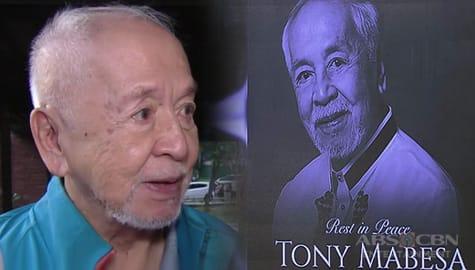 """TV Patrol: Tinaguriang """"Lion of the Theater"""" na si Tony Mabesa, namaalam na Image Thumbnail"""