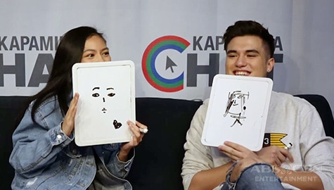 Kargo stars Gillian Vicencio and Markus Paterson draw each other Image Thumbnail