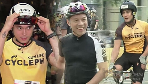 TV Patrol: Kapamilya stars at executive, sumabak sa bike race Image Thumbnail