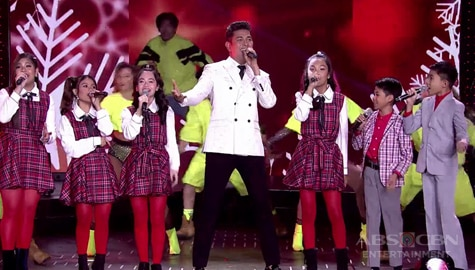 "WATCH: Gary V performs ""Tuloy Pa Rin Ang Pasko"" with Voice Kids  