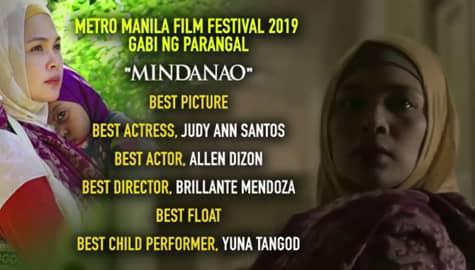 Umagang Kay Ganda: 'Mindanao', humakot ng awards sa Metro Manila Film Festival 2019 Gabi ng Parangal Image Thumbnail
