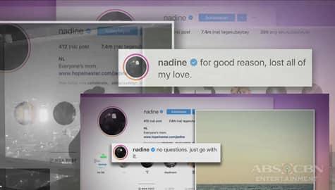 TV Patrol: IG post ni Nadine, nakadagdag sa espekulasyon ng umanoy hiwalayan Image Thumbnail
