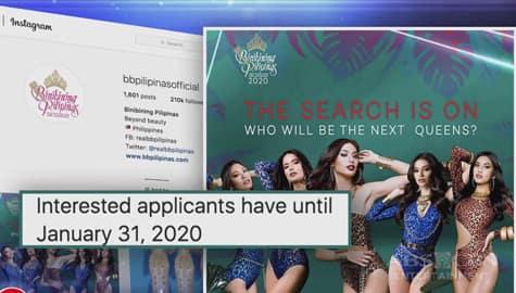 TV Patrol: BB. Pilipinas at Miss Universe, halos sabay ang anunsyo ng screening ng mga aplikante  Image Thumbnail