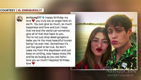 Umagang Kay Ganda: Enrique Gil, may sweet birthday message kay Liza Soberano Image Thumbnail