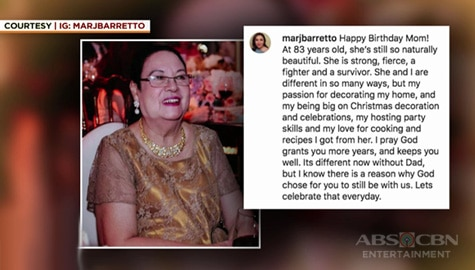 Umagang Kay Ganda: Marjorie Barretto, may birthday message kay Mommy Inday Image Thumbnail