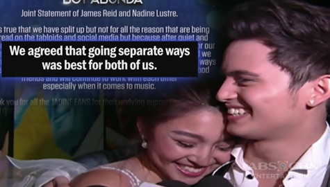 TV Patrol: James Reid at Nadine Lustre, break na Image Thumbnail