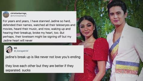Umagang kay Ganda: Hiwalayan ng JaDine, ikinumpara sa nangyari sa kanilang pelikula na 'Never Not Love You' Image Thumbnail