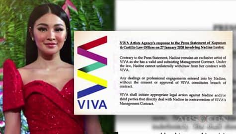 Viva Artists Agency, pumalag sa pagkalas ni Nadine Lustre sa talent management Image Thumbnail