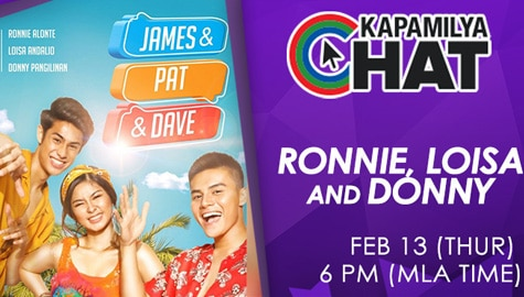 Kapamilya Chat With Loisa, Ronnie And Donny For James, Pat And Dave