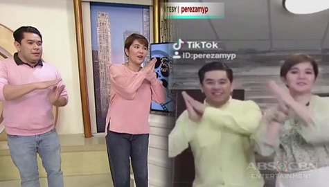 """Umagang Kay Ganda: Tyang Amy at Jeff Canoy, ginawa ang """"The Weekend"""" sa Tiktok Image Thumbnail"""