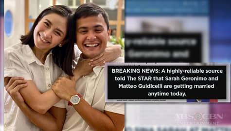 TV Patrol: Balitang ikakasal umano sina Sarah at Matteo ngayong araw, bumuluga sa social media  Image Thumbnail