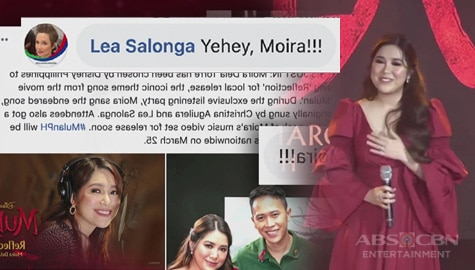 TV Patrol: Lea Salonga approves of Philippine singer Moira Dela Torre's rendition of Disney's Mulan