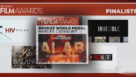 TV Patrol: Tatlong dokyumentaryo ng ABS-CBN ang pinarangalan sa 2020 New York Festival TV and Film Awards
