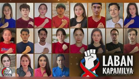 Kapamilya stars at fans nagpakita ng suporta sa ABS-CBN sa pamamagitan ng laban kapamilya wall Image Thumbnail