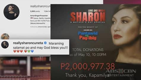 TV Patrol: Sharon, nakalikom ng higit P2Milyon para sa mga apektado ng lockdown Image Thumbnail