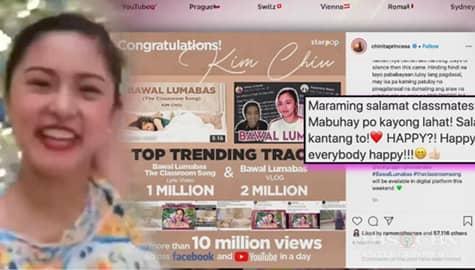 """TV Patrol: Kanta ni Kim Chiu na """"Bawal Lumabas"""", umabot na sa 10M ang views sa social media Image Thumbnail"""