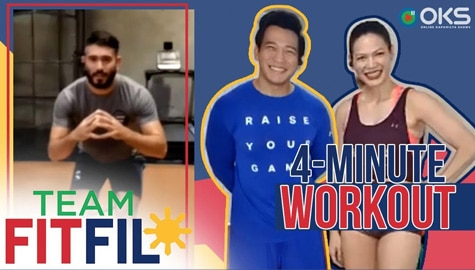 4-Minute DIY Treadmill Workout with Gerald Anderson | Team FitFil Episode 11