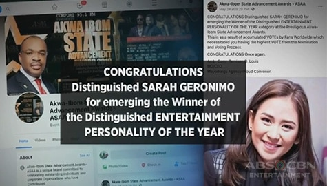 Sarah, itinanghal na Entertainment Personality of the Year