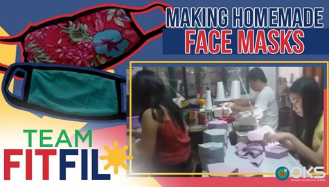 How Homemade Cloth Face Masks Are Made | Team FitFil Episode 11 Image Thumbnail