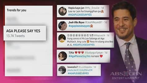 """TV Patrol: Aga Muhlach, pinipilit ng fans na samahan si Lea Salonga sa """"Bayanihan Musikahan"""" Image Thumbnail"""