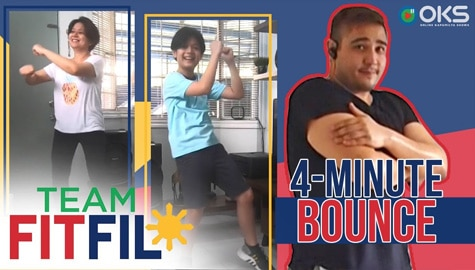4-Minute Bounce with Team Yey's Marco Masa and Mom | Team FitFil Episode 13 Image Thumbnail