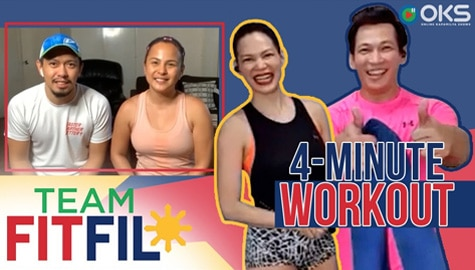 4-Minute Towel Exercises with Nikki Valdez and husband! | Team FitFil Episode 13 Image Thumbnail